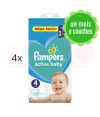 532 COUCHES PAMPERS ACTIVE BABY DRY taille 4