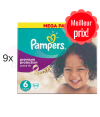456 COUCHES PAMPERS ACTIVE BABY DRY taille 4 + 6x56 PAMPERS SENSITIVE