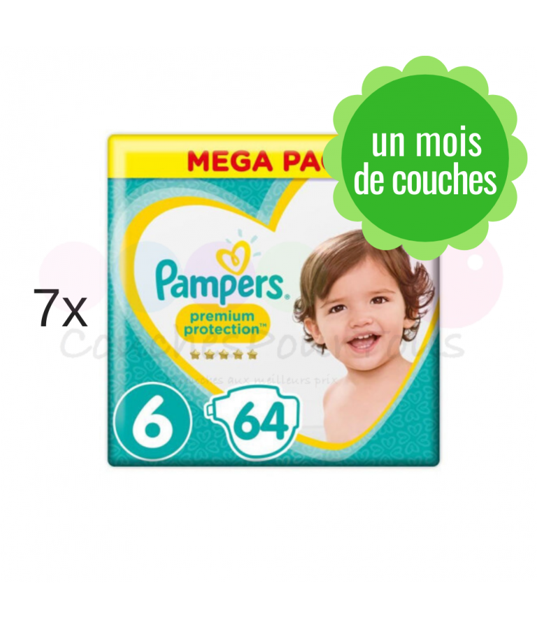 500 COUCHES PAMPERS NEW BABY DRY taille 2 + 6x64 PAMPERS BABY FRESH