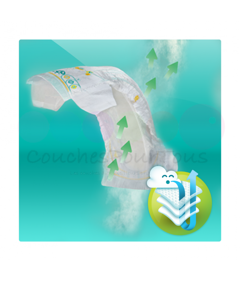 264 COUCHES taille 4 et 222 COUCHES taille 5 PAMPERS ACTIVE BABY DRY