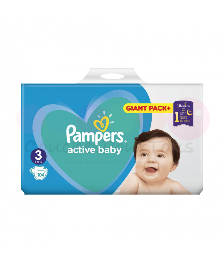 456 COUCHES PAMPERS ACTIVE BABY DRY taille 4