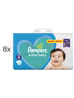 760 COUCHES PAMPERS ACTIVE BABY DRY taille 4