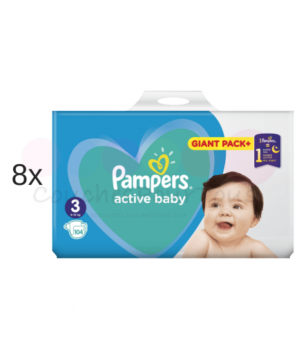 760 COUCHES PAMPERS ACTIVE BABY taille 4