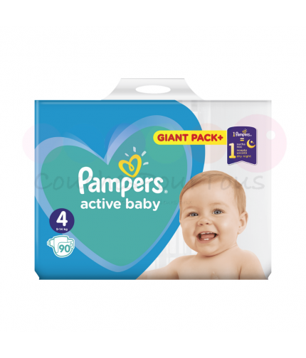 270 COUCHES taille 3 et 304 COUCHES taille 4 PAMPERS ACTIVE BABY + 6x56 PAMPERS SENSITIVE