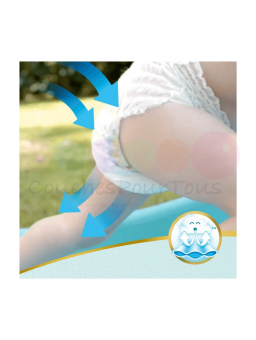 516 couches PAMPERS NEW BABY DRY taille 1 + Lot de 2 biberons Philips AVENT Classic - 125 ml - pour nourrisson et +